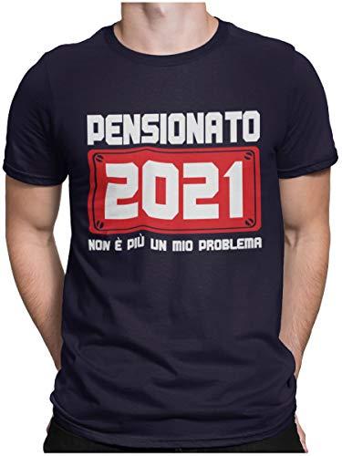 STAMPATEK Maglietta Pensionato 2021 T-Shirt Pensione Uomo Divertente Idea Regalo Festa Sorpresa Tshirt Ironica Manica Corta