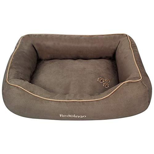 Red Dingo–Bett Donut für Hunde und Katzen–taupe–M