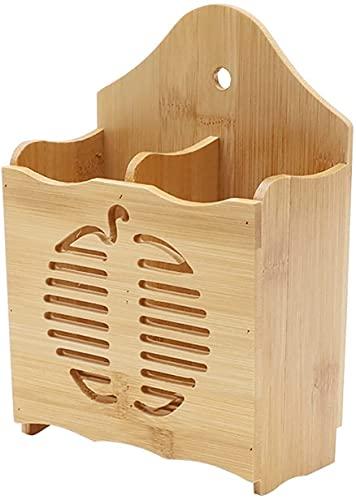 SYNAAN Utensil Drying Rack Bamboo Kitchen Utensils Creative Utensil Drainer Hangable Utensil Drying Rack (Color : A)