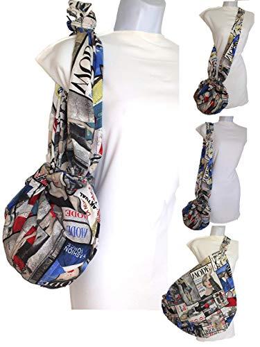 Umhängetasche Modezeitschriften Eine modische kleine Tasche das wird RIESIG Sparen Sie Hunderte von Plastiktüten Mehrzweck Waschbar