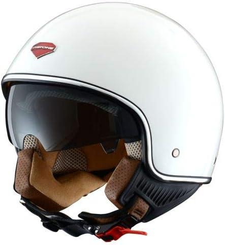 Astone Helmets - Minijet rétro - Casque jet rétro - Casque de moto vintage - Casque café racer- Casque en polycarbonate - gloss white XS