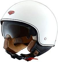 Astone Helmets - Minijet rétro - Casque jet rétro - Casque de moto vintage - Casque café racer- Casque en polycarbonate - gloss white S