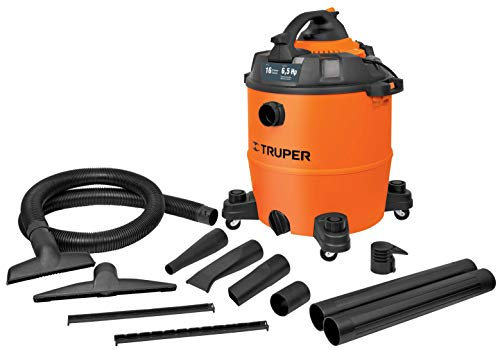 Truper ASPI-16, Aspiradora/Sopladora plástica, líquidos y sólidos, 16 gal (60 L)