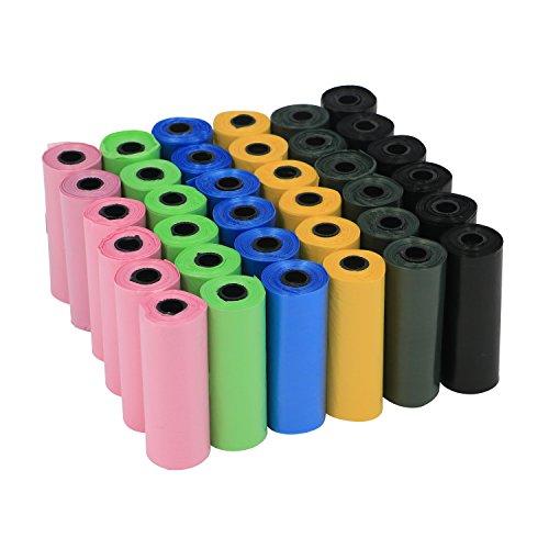 YOMMY® Bolsas para excrementos de perro 24/48/72 Rollos Total 360/720/1080 Bolsas Poop...