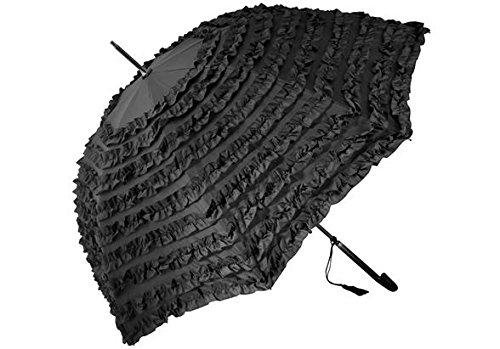 H & H Belle Elodie paraplu klassiek zwart