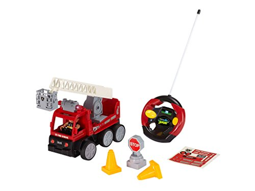 RC Auto kaufen Feuerwehr Bild 6: Revell Control Junior RC Car Feuerwehr - ferngesteuertes Feuerwehr Auto mit 40 MHz Fernsteuerung, kindgerechte Gestaltung, ab 3, mit Teilen und Figur Zum Bauen und Spielen, LED-Blinklichtern - 23001*