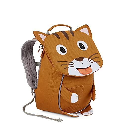 Affenzahn Kleiner Freund - Kindergartenrucksack für 1-3 Jährige Kinder im Kindergarten und Kinderrucksack für die Kita - Katze - Braun