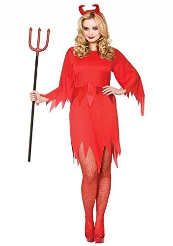 Ladies Red Wicked Devil Halloween Fancy Dress Costume