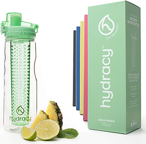 Hydracy Fruit Infuser Water Bottle with unique Insulated No-Sweat Sleeve -...