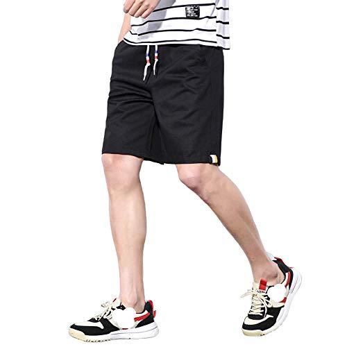 MLKUP Advanced Anti-Tear Basic Short Pantalones de Herramientas de algodón elástico para Hombres Casual Sección Delgada para Hombres Marca de Marea Coreana Tendencia Cinco Puntos Shorts de v