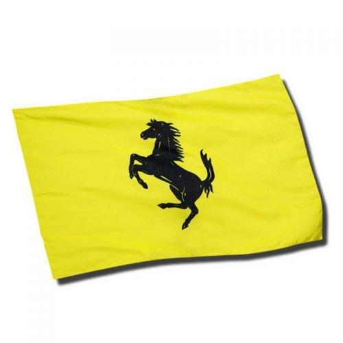 Ferrari Bandera amarillo yellow Flag Prancing Horse Black