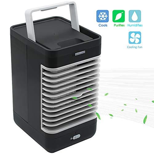 MiNi - Refrigeratore d'aria portatile 3 in 1 con mini climatizzatore/umidificatore/purificatore d'aria,...