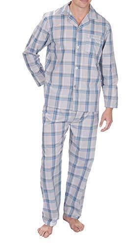 Best Deals Direct Conjunto de pijama de algodón lisos para hombre
