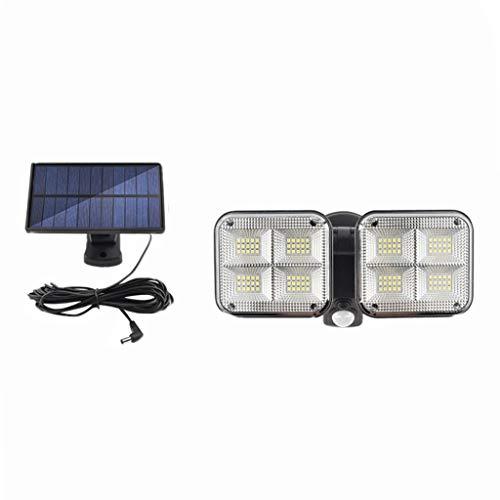 Foco LED Con Sensor de Movimiento, Diseño Dividido, Cable de 5 m, Luces 120 LED, 3 Modos, Impermeable IP65, Ajustable de 60°-240°, Luz Solar Exterior para Entrada Garaje Patio y Jardín -Tipo B