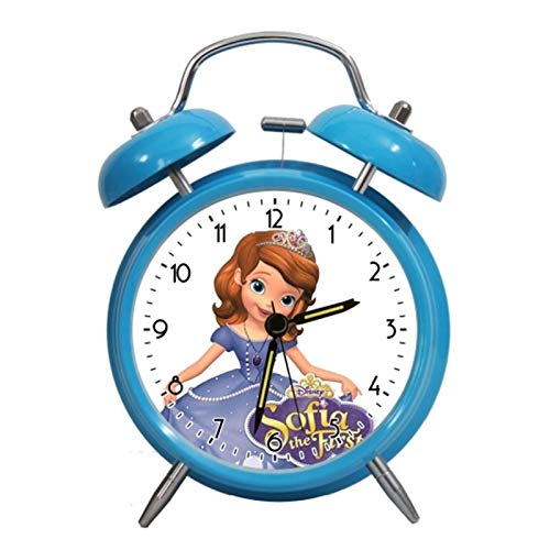 yywl Reloj Despertador Alarma Princesa de Dibujos Animados Reloj de retroiluminación LED Reloj Lindo de Alarma Digital Despertador Reloj niños Gadgets electrónicos (Color : D)