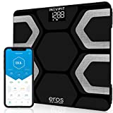 INEVIFIT EROS Bluetooth Body Fat Scale Smart BMI Highly Accurate Digital Bathroom Body Composition Analyzer with Wireless Smartphone APP 400 lbs 11.8 x 11.8 inch (Black)