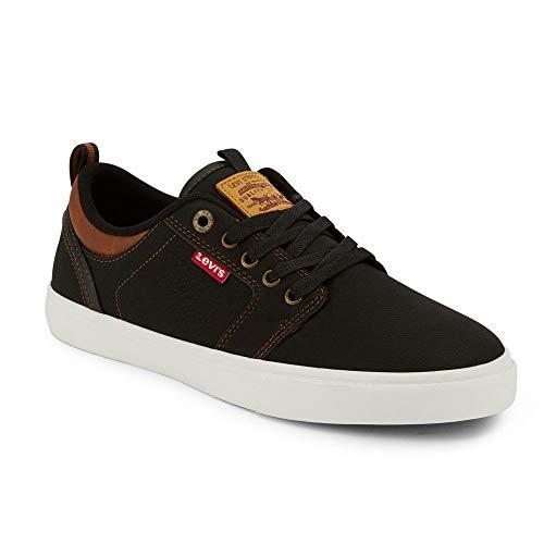 Levi's Mens Alpine Waxed UL NB BT Casual Sneaker Shoe, Black/Tan, 12 M