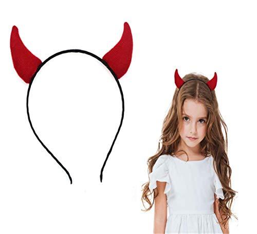 cosanter Devils cuernos disfraces diadema rojo accesorio para Halloween gran despedidas