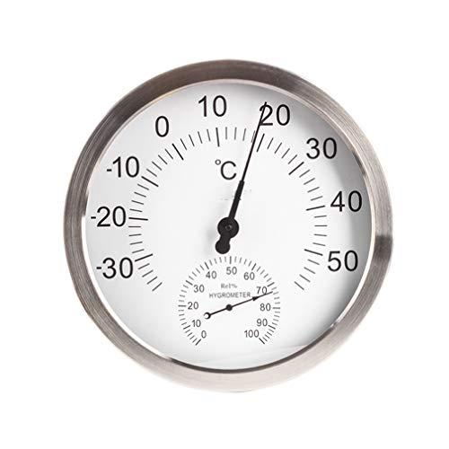 YGX 2 in 1 Innen- Und Außenthermometer Hygrometer 12-Zoll-Runde Big Screen-Wand Wetterstation Meter Accurate Für Office/Home/Terrasse