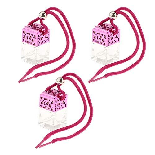 Sharplace Mini Bouteille De Parfum En Verre Clair Rechargeable Suspendue Pendant - 3x Clair