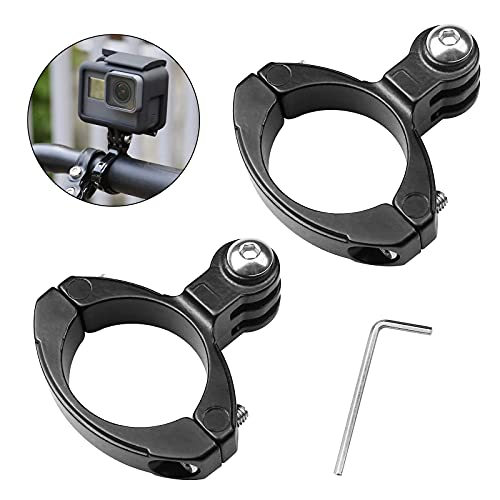 Aallo 2 Stück Aluminium Sport Action Kameras Zubehör Hochwertige Lenker Adapter Befestigung Halterung Durchmesser 26.5-32mm für Gopro HE Hero/HD Hero2 /3- Schwarz