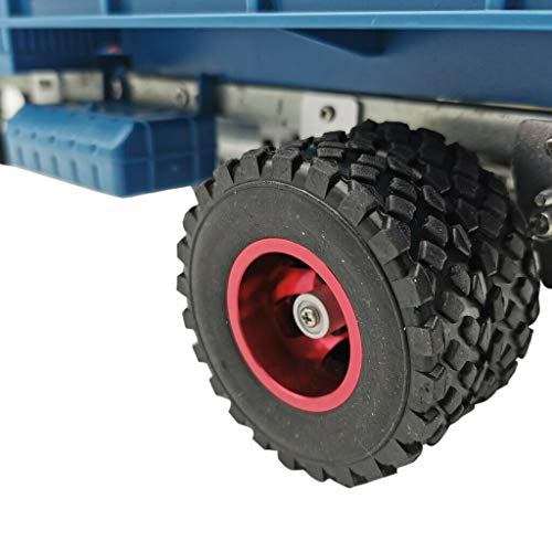TOOGOO DIY Doppel Reifen Metall Rad KIT für Wpl B14 B24 Q62 Q63 1/16 LKW 4WD Rc Auto Teile (Schwarz)