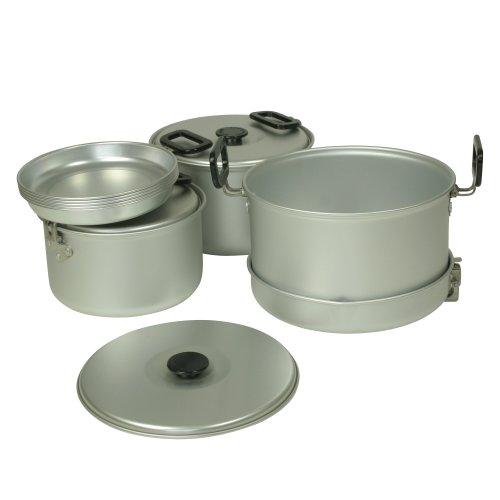 10T pannenset Woodman V camping kookset voor 4-5 man 12-delig Kookgerei met borden