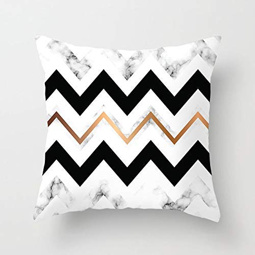 GYYbling Pillow case Rose Gold Cushion Cover Home Decoration Triangle Marble Arrow Flash Throw Pillow Decoration Pillow case Cushion Cover A24 45x45cm 2pc