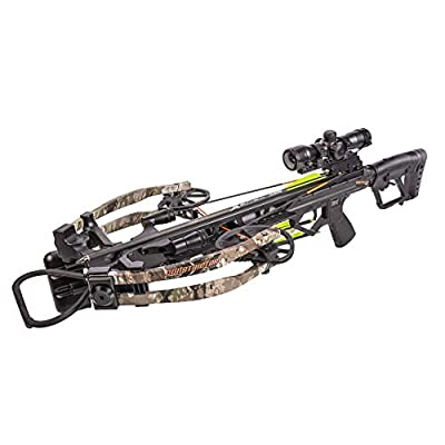 BearX Constrictor CDX Ready to Shoot Crossbow Package with Scope, Quiver, Bolts, Cocking Rope, and Wax