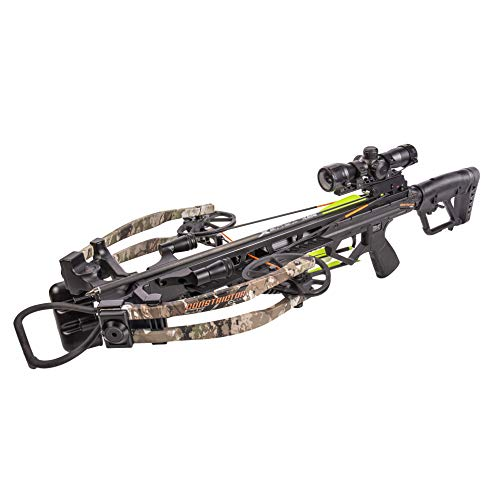 Bear X Constrictor CDX Ready to Shoot Crossbow Package with Scope, Quiver, Bolts, Cocking Rope, and Wax, Stoke Finish, One Size (AC94A2A9200)