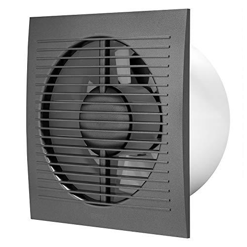 Ø 150mm Anthrazit Badlüfter Wandlüfter Ventilator Wandventilator Abluftventilator für Küche Bad WC