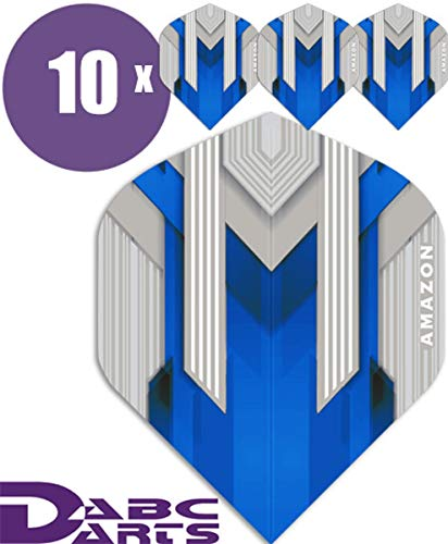 ABC Darts Flights - Amazon Silver Blau - 10 sätz (30 stück Dart Flights)