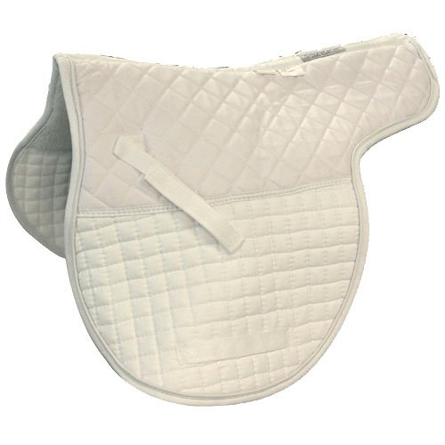 Intrepid International Shaped Quilted Double Back All Purpose Saddle Pad, White