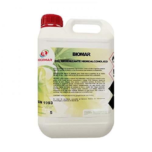 GEL HIGIENIZANTE DE MANOS BIOMAR, antibacterias de secado instantáneo. Envase 5 LITROS