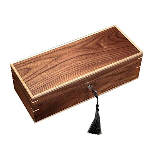 Uhrenbox Retro Aus Echtholz-Uhr-Box Schmuck-Vitrine 5 Uhr Aufbewahrungsbox Geschenkbox for Männer Oder Frauen 5 Grids