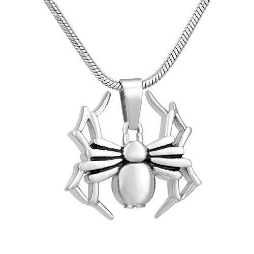 XIANGAI Collier en Forme d'araignée for Homme avec Pendentif Souvenir de Cendres avec Pendentif commémoratif avec kit de Remplissage (Metal Color : 10 pcs Pendant Only)