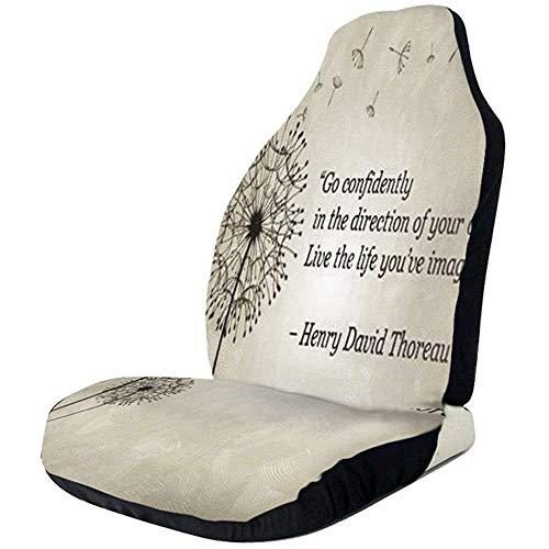 Blazen Paardebloem Citaten Maak Een Wensen Auto Stoelhoezen Universele Auto Voorstoelen Protector Accessoires