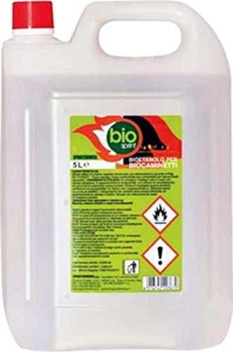 Bioetanolo combustibile stufe Bio Sprint 5 litri 99,9% inodore no fumo naturale no zolfo