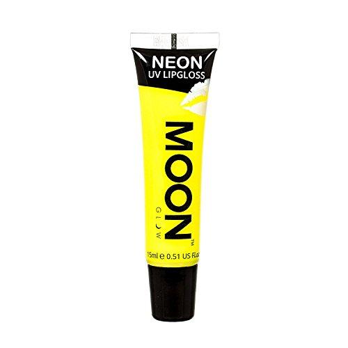 Gelber UV Lipgloss fluoreszierend mit Bananenduft von Moonglow 15ml