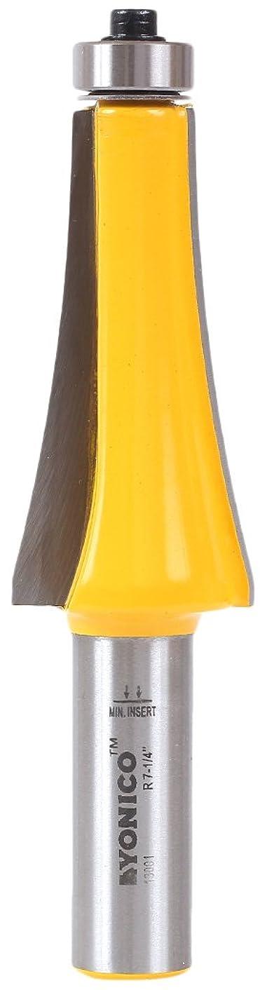 報復するタヒチファランクスYonico 13001 - 曲率半径184mm (7-1/4インチ) ギターフィンガーボード カーブ加工用ルータービット 軸径12.7mm (1/2インチ)