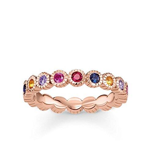 Thomas Sabo Damen-Ringe 925 Sterling Silber Künstliche Perle '- Ringgröße 60 (19.1) TR2148-068-7-60