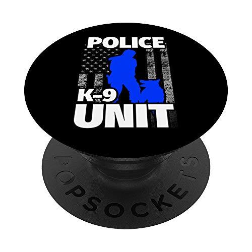Female K9 Handler - Female K9 Officer Flag PopSockets Grip and Stand for Phones and Tablets