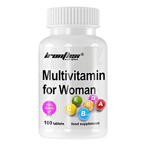 IronFlex Multivitamin for Women Package of 1 x 100 Tablets - Complex of Vitamins and Minerals for Women with Acai Berries and Soy Lecithin