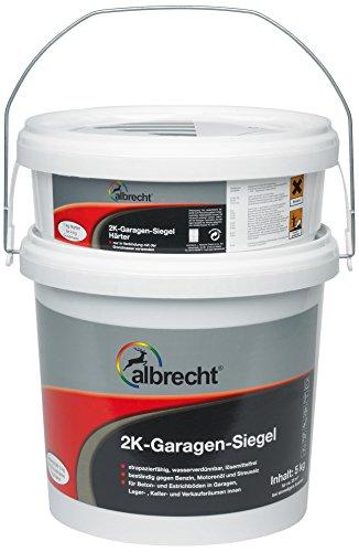 Lackfabrik J. Albrecht GmbH & Co. KG 3400707400703005000 2K-Garagen-Siegel 7030 5kg, RAL 7030 grau