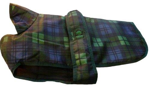 Outhwaite hondenjas jas en onderlijf watch tartan ruitpatroon, gewatteerd, zwart, ouders, Outhwaite mantel, onder de buik gevoerd, 30