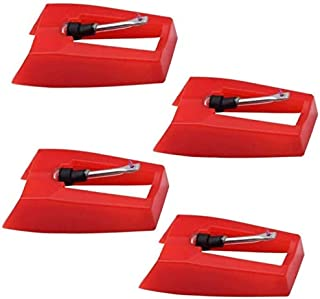 4 Pack Ruby Record Player Needle Turntable Stylus Replacement for ION Jenson Crosley Victrola Sylvania Turntable Phonograp...