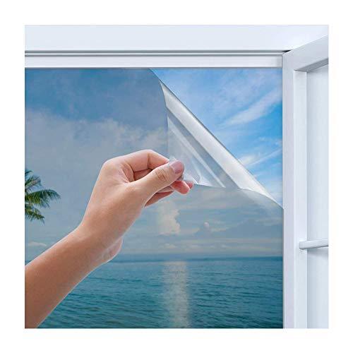 Homegoo One Way Spiegelfolie, zelfklevend, zilver, reflecterende raamfolie, uv-bescherming, zonwering, inkijkbescherming, glaskleurstickers 45*200 cm