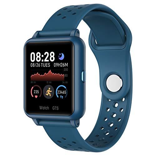 Soporte de Reloj Inteligente Monitoreo de ritmos cardíaca/Monitoreo de la presión Arterial/Monitoreo del sueño para Hombres Mujeres (Negro), P8 1.3 Pulgadas IPS Gloss Screen Screen Voguish Watch,