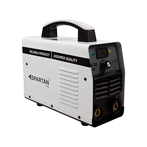 Spartan KAR-200EL18 Single Phase Inverter Welding Machine 200A with Hot Start, Anti-Stick, Arc Force, Power Boost Functions (Red) upto 3.5 MM Welding Electrode