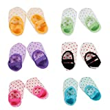 CHIC-CHIC 6 Pairs Infant Toddler Baby Girl Anti-slip Foot Socks Booties Socks for 6-36 Months